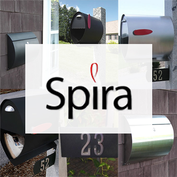 Helix Spira Pole and Wall Mounted Mailboxes
