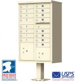 16 Door USPS Approved Cluster Mailbox