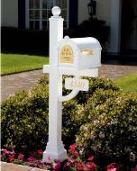 Original Keystone Residential Mailbox and Deluxe Post by Gaines
