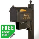 Whitehall Deluxe Westwood Curbside Mailbox Package with Newspaper Holder