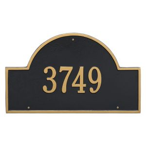 Whitehall Arch Marker - Estate Wall - One Line Address Plaque