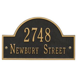 Whitehall Arch Marker - Standard Wall - Two Line Address Plaque