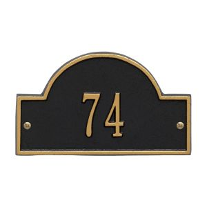 Whitehall Arch Marker - Petite Wall - One Line Address Plaque