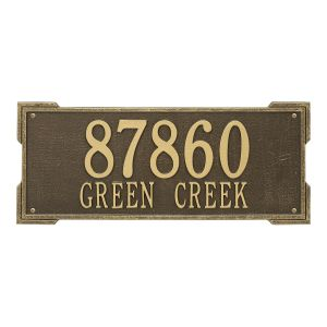 Personalized Roanoke Plaque - Estate - Wall - 2 Line