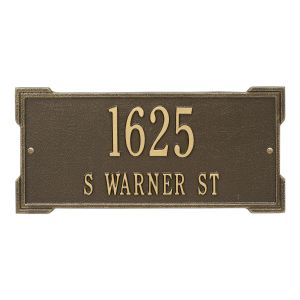 Personalized Roanoke Plaque - Standard - Wall - 2 Line