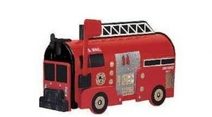 Red Fire Engine Novelty Mailbox