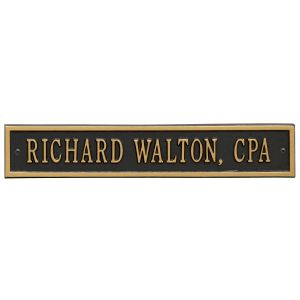 Whitehall Arch Extension - Standard Wall - One Line Address Plaque