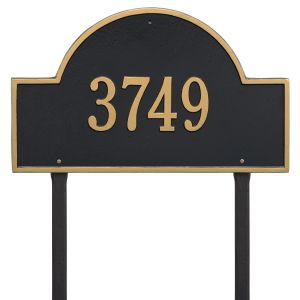Whitehall Arch Marker - Estate Lawn - One Line Address Plaque