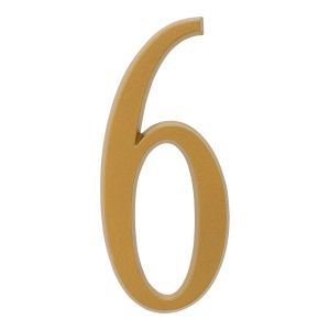 Whitehall 4.75 inch Gold House Address Number - 6