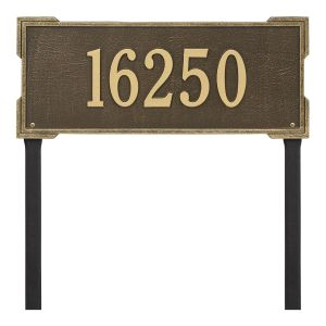 Personalized Roanoke Plaque - Estate -Lawn - 1 Line
