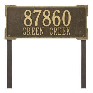 Personalized Roanoke Plaque - Estate -Lawn - 2 Line