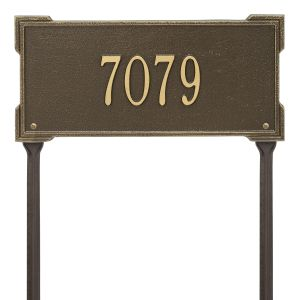 Personalized Roanoke Plaque - Standard -Lawn - 1 Line