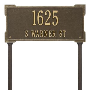 Personalized Roanoke Plaque - Standard -Lawn - 2 Line