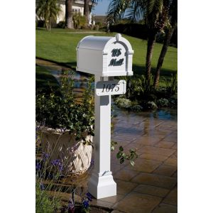 gaines signature keystone residential mailbox white