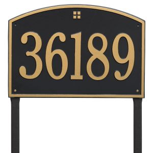 Whitehall Cape Charles - Estate Lawn - One Line Address Plaque