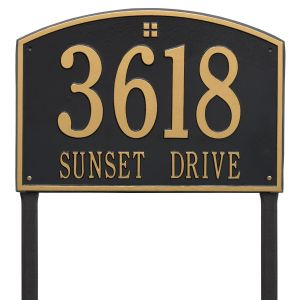 Whitehall Cape Charles - Estate Lawn - Two Line Address Plaque
