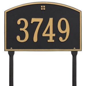 Whitehall Cape Charles - Standard Lawn - One Line Address Plaque