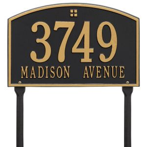 Whitehall Cape Charles - Standard Lawn - Two Line Address Plaque