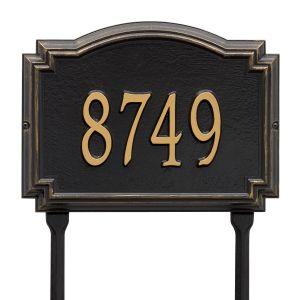 Whitehall Williamsburg - Standard Lawn - One Line Address Plaque