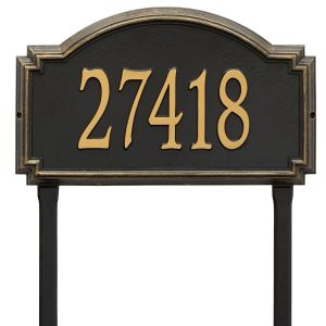 Whitehall Williamsburg - Estate Lawn - One Line Address Plaque