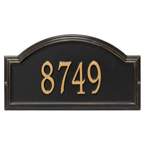 Whitehall Providence Arch - Standard Wall - One Line Address Plaque