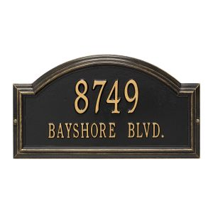 Whitehall Providence Arch - Standard Wall - Two Line Address Plaque