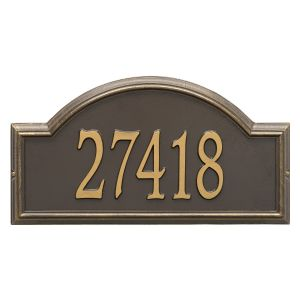 Whitehall Providence Arch - Estate Wall - One Line Address Plaque