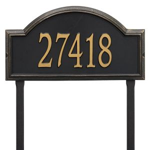 Whitehall Providence Arch - Estate Lawn - One Line Address Plaque