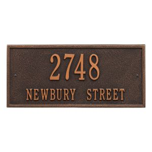 Whitehall Hartford - Standard Wall - Two Line Address Plaque