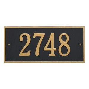 Whitehall Hartford - Standard Wall - One Line Address Plaque