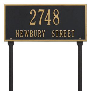 Whitehall Hartford - Standard Lawn - Two Line Address Plaque