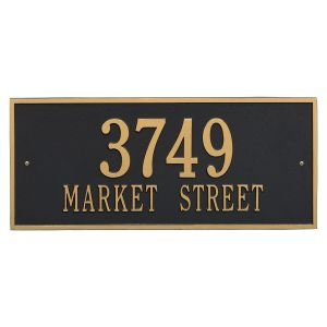Whitehall Hartford - Estate Wall - Two Line Address Plaque ( Black/Gold)