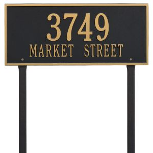 Whitehall Hartford - Estate Lawn - Two Line Address Plaque