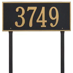 Whitehall Hartford - Estate Lawn - One Line Address Plaque