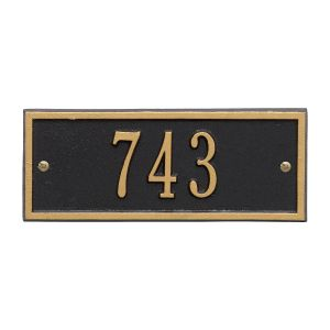 Whitehall Hartford - Petite Wall - One Line Address Plaque