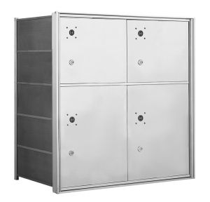 4B+ Front-Loading Horizontal Mailboxes - 4 Parcel Lockers