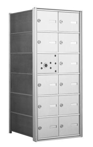 4B+ Front-Loading Horizontal Mailboxes - 11 Tenant Doors