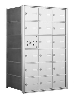 4B+ Front-Loading Horizontal Mailboxes - 17 Tenant Doors And 1 USPS Master Door