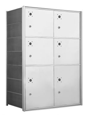4B+ Front-Loading Horizontal Mailboxes - 6 Large Parcel lockers
