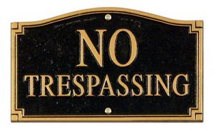 14095-whitehall-no-trespassing-statement-plaque-wall-lawn-black-gold-18-lawn-stake-included-1