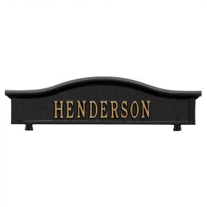 Whitehall Mailbox Personalized Topper Plaque