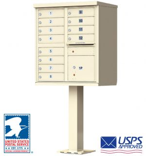 12 Door USPS Approved Cluster Mailbox