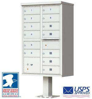 High-Security Pedestal CBU Mailbox - 13 Tenant Doors