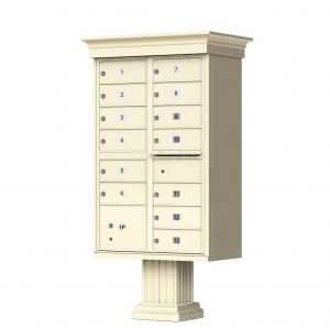 Cluster Box Unit  With Crown Cap and Pillar Pedestal  Accessories -13 Compartments