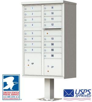 High-Security Pedestal CBU Mailbox - 16 Tenant Doors