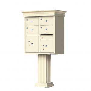decorative column usps cluster mailbox 4 tenants