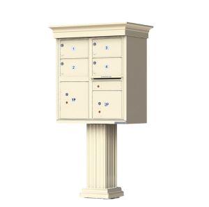 Decorative Crown Cap 4 Door CBU Mailboxes with Extra Large Tenant Doors
