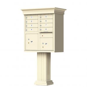 decorative column usps cluster mailbox 8 tenant