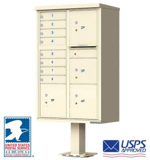 CBU Commercial Mailboxes - 8 Door with 4 Parcel Lockers