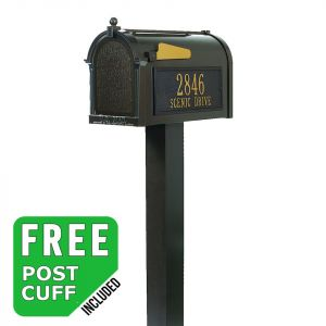 Whitehall Premium Residential Streetside Mailbox and post